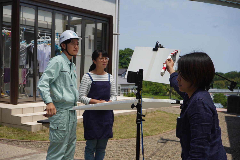 家庭用蓄電池を紹介するテレビCMの撮影が行われました!